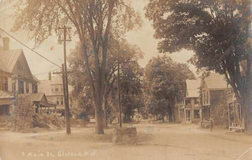 Alsd New Hampshire South Main Street Real Photo Antique Postcard J45044