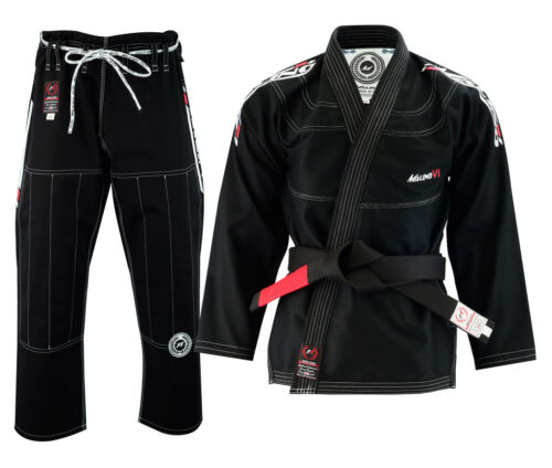Malino BJJ Gi Suit Mens Uniform Brazilian Jiu Jitsu Kimono 550G White/Black/Blue