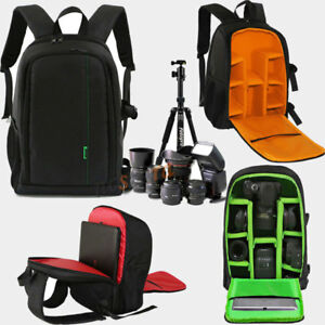 DSLR-SLR-Lens-Camera-Bag-Padded-Travel-Backpack-Rucksack-15-6-034-Laptop-Cover-Pack