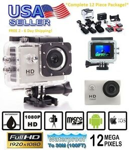 Full HD 1080P Sports Action Camera Cam 12 Includes GoPro accessory kit hero 4 1080p accessory action cam camera full gopro includes kit sports