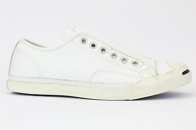 Converse White Leather Jack Purcell Low