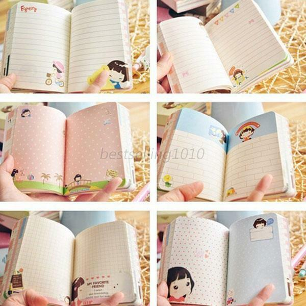 Cartoon Notepad Notebook Journal Diary Memo Writing Paper Gifts Stationery B26