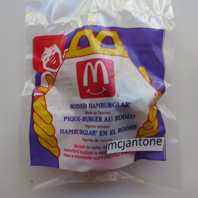 MIP McDonald's 1996 Rodeo HAMBURGLAR COWBOY Toy McRODEO Wind Up CAKE TOPPER