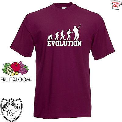 Evolution Angeln T-Shirt S-5XL Fischen Angeln Spass Fun Sport