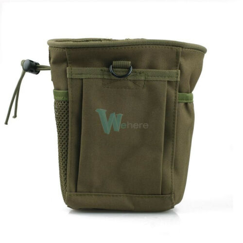 Military Molle Tactical Magazine Dump Ammo Drop Utility Pouch Bag Small Green