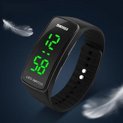 Men Womens Touch Digital Silicone LED Fashion Sport Bracelet Wrist Watch Gift