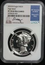 NGC 2018 W American Palladium Eagle PF70 Ultra Cameo $25 High Relief 1oz Coin