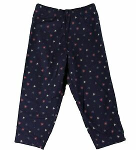 JACADI-Girl-039-s-Adosser-Navy-Blue-Floral-Print-Leggings-Sz-4-Years-NWT-32