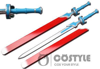 """New Sword Art Online Kirito Asuna Sword Cosplay Sword Wooden Props Cos Fans 40"""""""