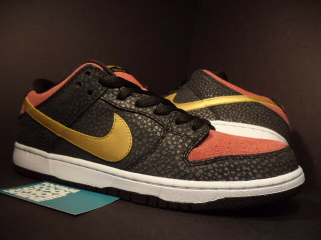 Nike Dunk Low Qs Premium Sb Qs Low Walk of Fame WOF Oro Negro Redwood 504750-076 Ds 12 8232c5
