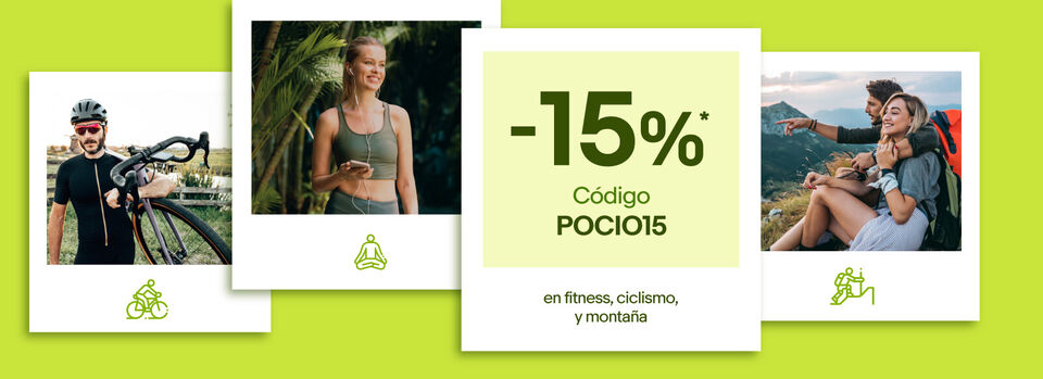 Código POCIO15 - Cupón -15%* para tu tiempo libre