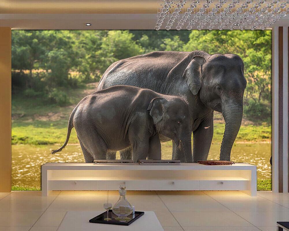 African Elephant 3D Full Wall Mural Photo Wallpaper Printing Home Kids Decor