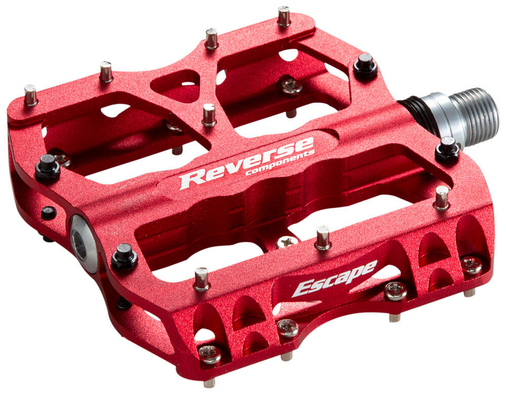 Reverse Escape Flat Fahrrad Pedal red