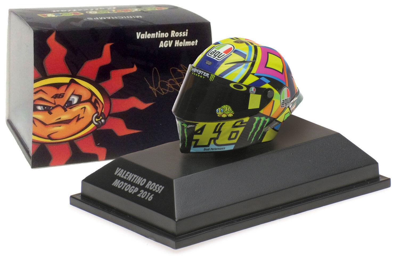 Minichamps Valentino Rossi Helmet - MotoGP 2016 1 8 Scale