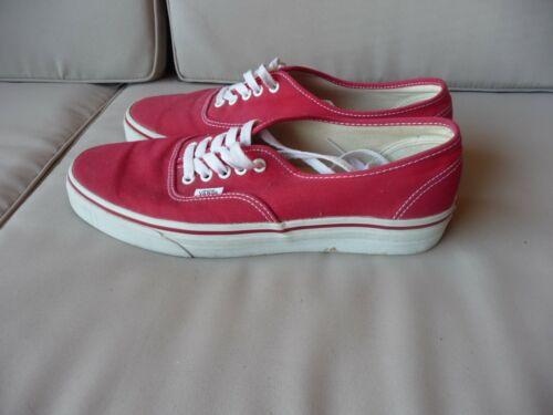 Vans 44 10 Taille Rouge Toile Homme 5 En Chaussures HzwqS64n