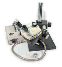 Bausch Amp Lomb Sz4 Stereozoom Microscope Withboom Stand Fiber Light Refurbished