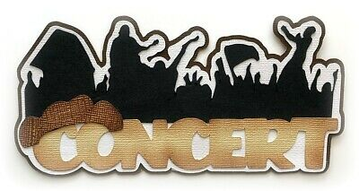 CONCERT COUNTRY TITLE PREMADE PAPER PIECING BY MY TEAR BEARS KIRA