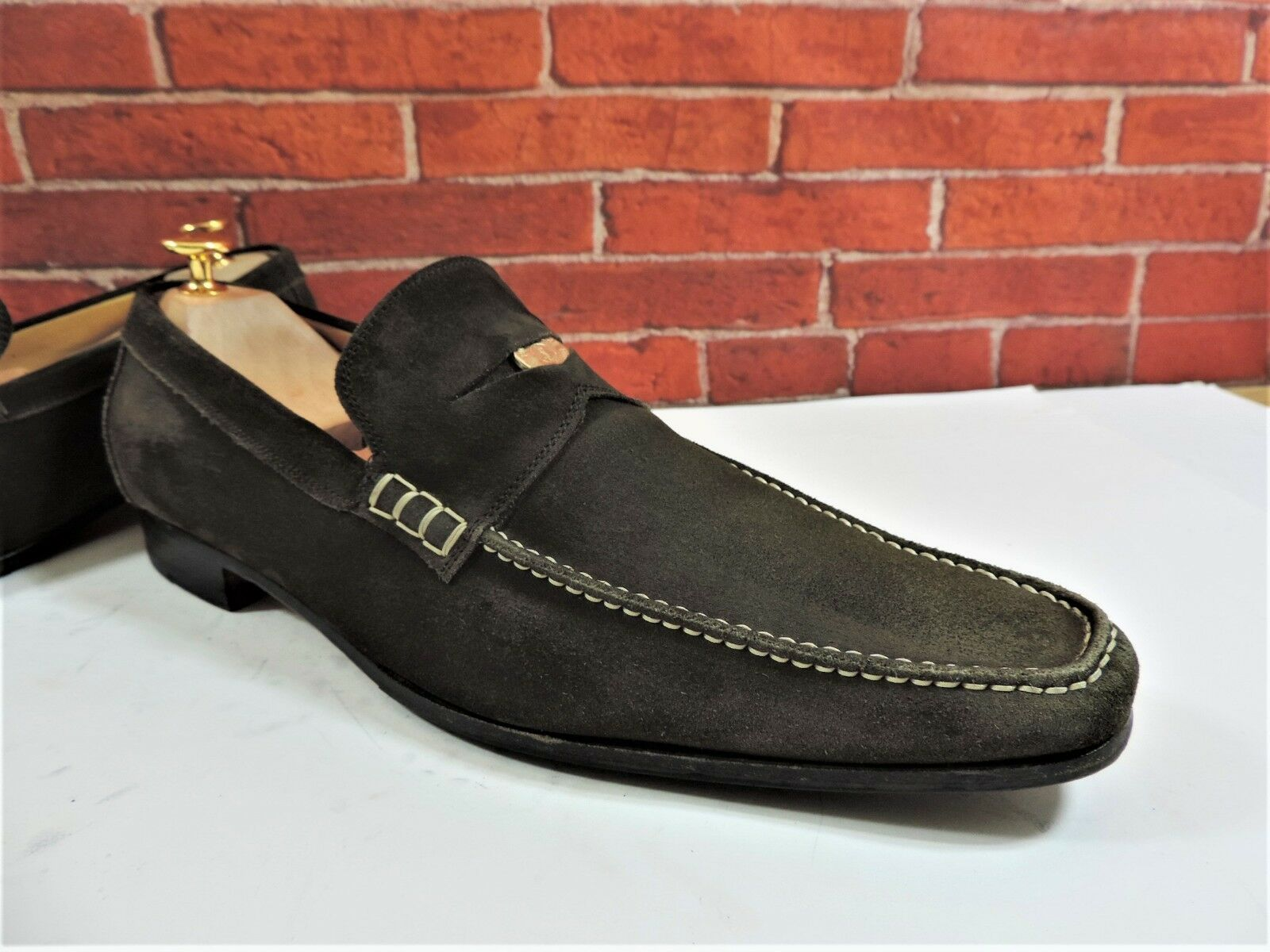 Yves Saint Laurent 9.5 Suede Penny Loafers UK 9.5 Laurent US 10.5 EU 43.5 Worn 2/3 times 7a7fff