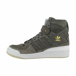 Adidas Forum Hi Crafted Gris/Blanc Homme Baskets Chaussures de Loisirs BW1253