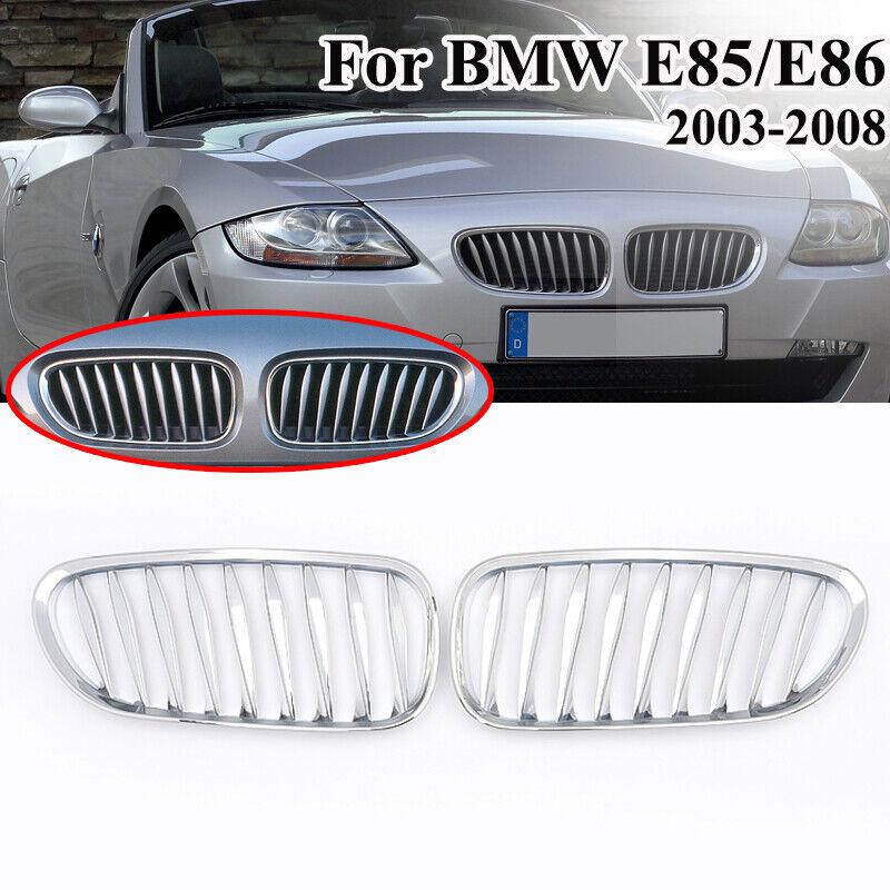 1 Pair M-Color Flat Matte Black Grille fit for BMW Z4 E85 E86 03-08 Cool/&Elegant