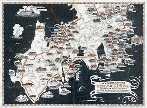 Newport-039-s-Famous-Ten-Mile-Drive-Ocean-Front-1933-pictorial-map-POSTER-8737003