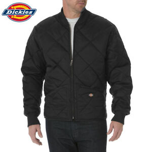 b087017e848 Image is loading Dickies-Diamond-Quilted-Nylon-Bomber-Jacket-Black