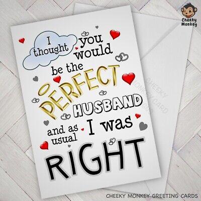 Funny ANNIVERSARY BIRTHDAY CARD Wife Husband PARTNER Fiance Fiancee Male Female