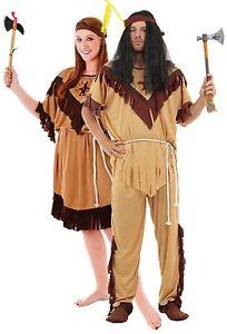 Parejas Indio Americano Nativo Lejano Oeste Disfraz De Halloween - Disfraz-india-americana