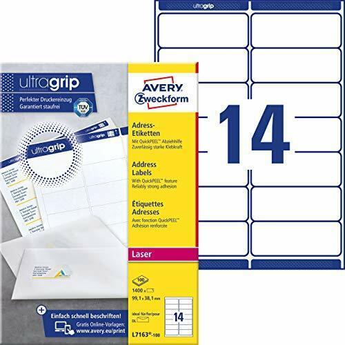 mit ultragrip, 99,... Avery Zweckform L7163-100 Adressetiketten//Adressaufkleber