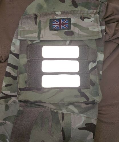 7.5x2.5cm airsoft,ubacs x3 hi vis reflective hook backing patches