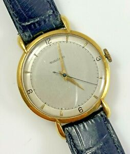 Jaeger LeCoultre P450/4C Wristwatch 35mm 18K Gold Case Redial Needs Work