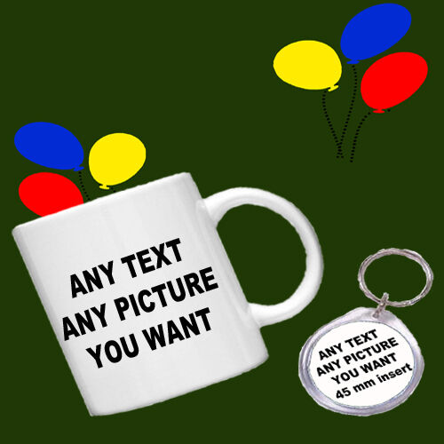 Mug and Round Keyring Fathers Day Gift Father Present Personalised Gift Set