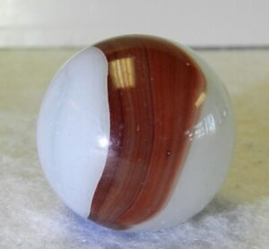 9558m-Large-87-Inches-Akro-Agate-Oxblood-Patch-Shooter-Vintage-Marble