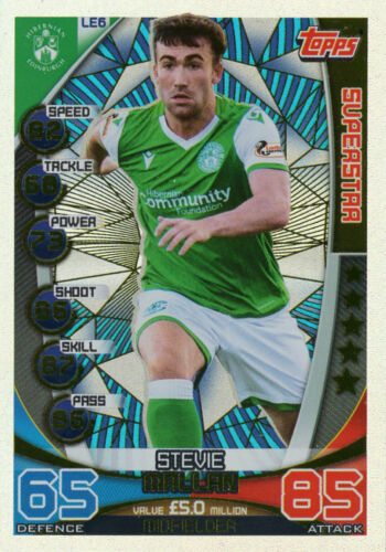 HIBERNIAN TOPPS SPFL MATCH ATTAX 2019//20 19//20 STEVE MALLAN SUPERSTAR CARD