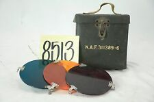 WWII U.S. ARMY AIR CORPS CAMERA LENS FILTER BOX
