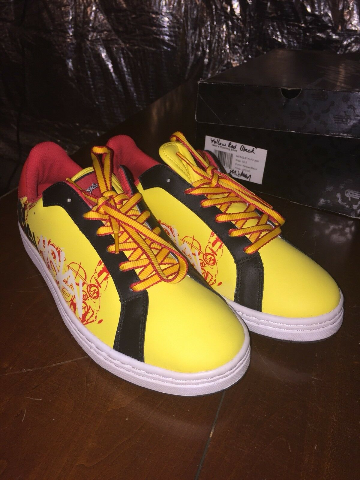 Miskeen Origanal Shoes Size 10.5 Yellow Red Black