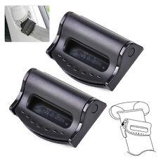 2Pcs Car Seat Belt Safety Adjuster Clips Clamp Stopper Buckle Improves Comfor/_WK