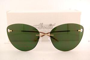34ad67ac460 New Silhouette Sunglasses TMA ICON 8154 6205 Gold Green For Women ...