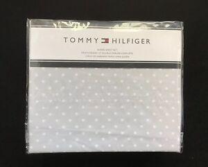 Tommy-Hilfiger-GRAY-White-Dot-QUEEN-Size-Sheet-Set-4-Piece