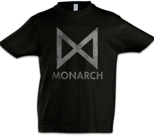 Monarch Logo Kids Boys T-Shirt Symbol Sign Logo Company Godzilla