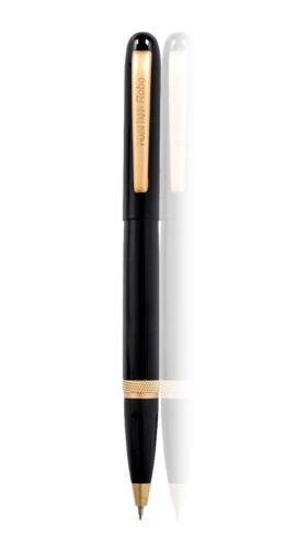 Magnetic Gloss Black /& Gold Ballpoint Pen with 2 inks Black and Blue