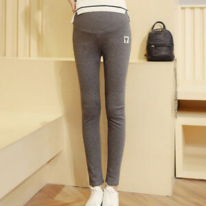 06bf34a4459df Details about Casual Skinny Maternity Pants Leggings Women Solid Color Maternity  Pants IO