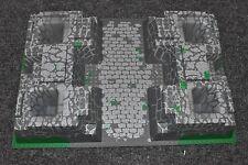LEGO Baseplate 32x48 Raised gray stone 8781 Rock Castle Morcia Knight 30271 AFJW