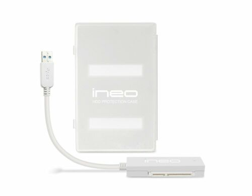 "Ineo I-NA216U2PLUS USB 3.0 to SATA III 2.5/"" Hard Drive//SSD Enclosure Tool Free"