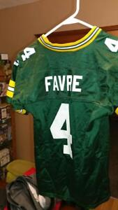 PRE-OWNED NFL GREEN BAY PACKERS QB BRETT FAVRE  4 PUMA JERSEY YOUTH ... 82518469d