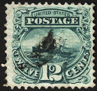 U.S. #117 12c Green 1869 VF Used Nicely Centered with Jumbo Margin CV $160+