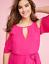 New-LANE-BRYANT-Cold-Shoulder-Sharkbite-Maxi-Dress-Pink-Magenta-Plus-24-26-28 thumbnail 2