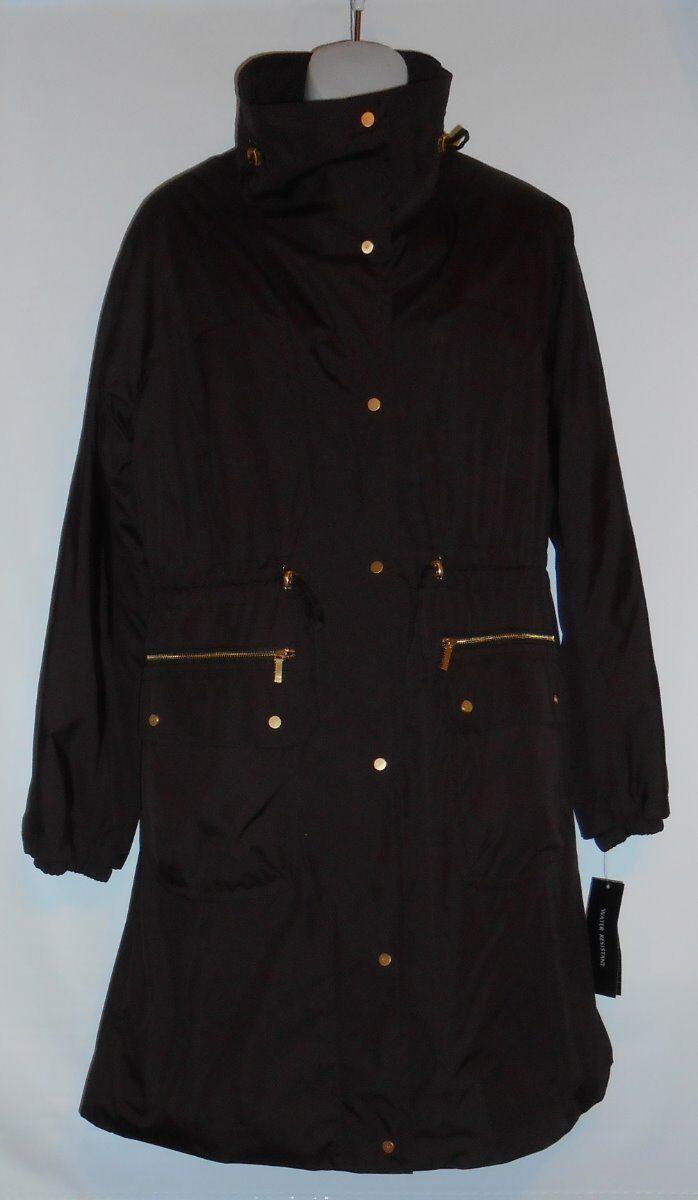 Jones ny York Ladies Water Resistent Coat Bitter Sweet Cocoa M retail  249.00