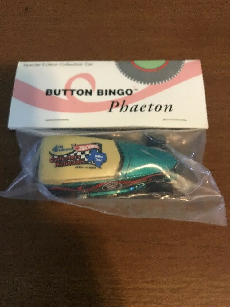 Hot Wheels 4th Annual Collectors Nationals Button Bingo Turquoise Phaeton 1 30