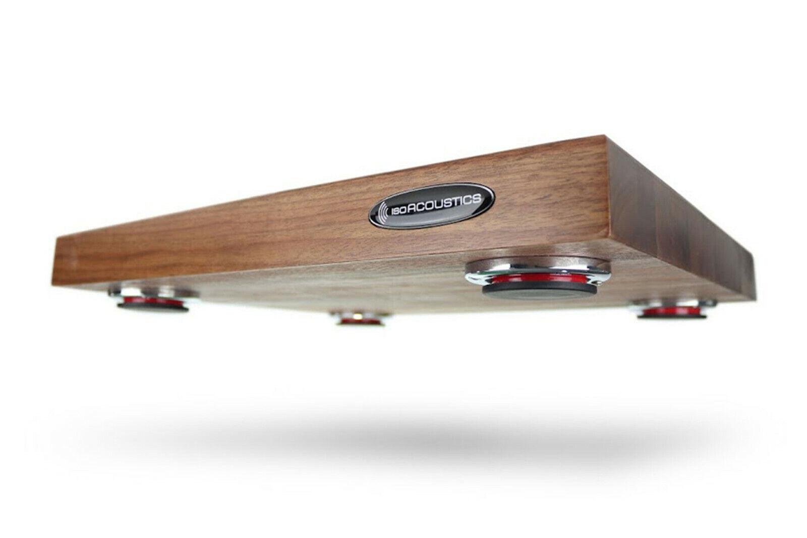 IsoAcoustics Delos 1815W1   Turntable Isolation Board (Walnut)   Pro Audio LA